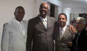 Pastor Luiz Leite Farias,Rev. Fabiano Ferreira, Pr. Elielberth Falcão e Pr. Dr. José Calheiros