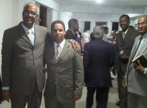 Rev. Fabiano Ferreira, Pr. Elielberth Falcão a direita ao fundo Pr. Adriano Moreira e Pr. Nilton Gomes